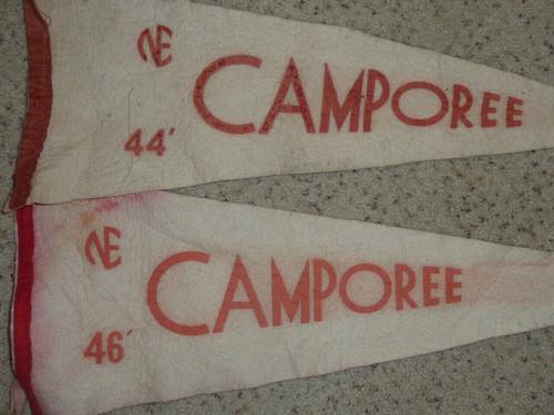 1944 & 1946 Felt Camporee Pennants from Philadelphia Council, Boy Scout