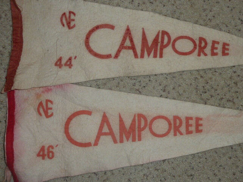 1944 & 1946 Felt Camporee Pennants from Philadelphia Council, Boy Scout