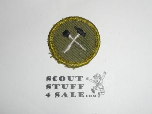 Home Repairs - Type F - Rolled Edge Twill Merit Badge (1961-1968), sewn