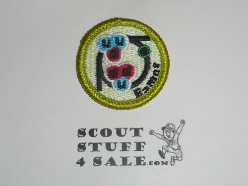 Nuclear Science - Type L - Fully Embroidered Plastic Back Merit Badge