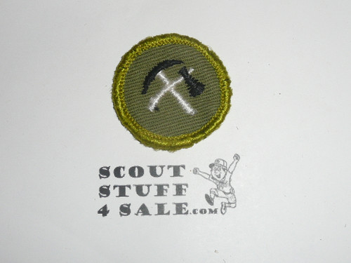 Pioneering - Type F - Rolled Edge Twill Merit Badge (1961-1968), sewn