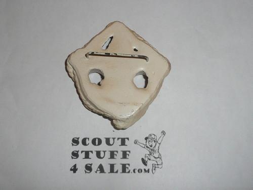 Scout Emblem Plaster Neckerchief Slide, Sold at Philmont
