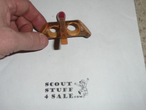 1971 Klondike Derby Award hand carved Neckerchief Slide