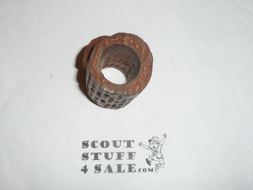 Cored Piece of Wood Neckerchief Slide