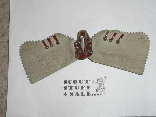 Leather Chaps Handmade Neckerchief Slide traded for at the 1950 NJ