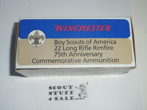 Winchester 22 calibur Long Rifle Ammunition for the Boy Scout 75th Anniversary, Box Only