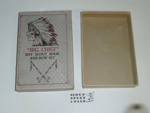 Big Chief Boy Scout Book and Bow Set, Box Only