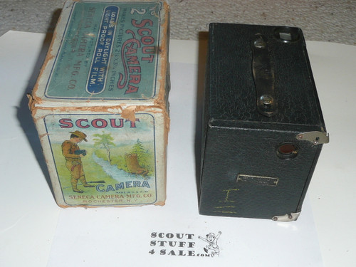 Boy Scout Box Camera, #2, Seneca Camera Manufacturing Company, Rochester New York, with original box