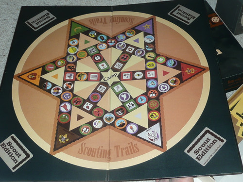 Scouting Trails Game, 1987, used but looks complete