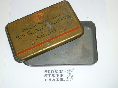 1920s boy scout first aid tin, rare variety, tin only