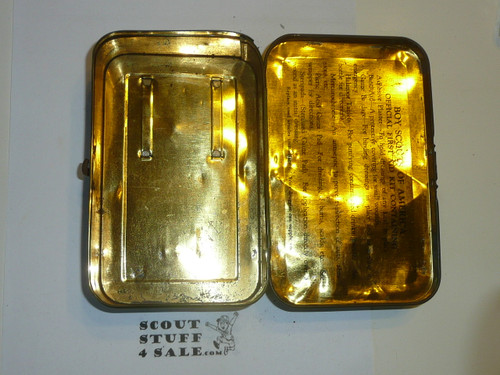 1930's Boy Scout Johnson and Johnson First Aid Tin, No Contents, Some Wear to Tin #3
