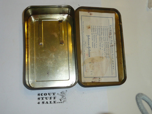 1930's Boy Scout Johnson and Johnson First Aid Tin, No Contents, lite Wear to Tin #4