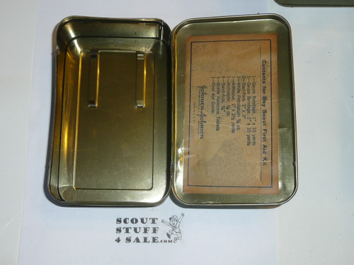 1930's Boy Scout Johnson and Johnson First Aid Tin, No Contents, lite Wear to Tin #8