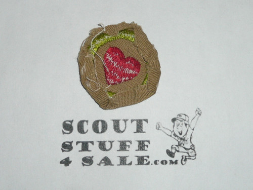 Personal Health - Type D - Fine Twill Merit Badge (1942-1946), used