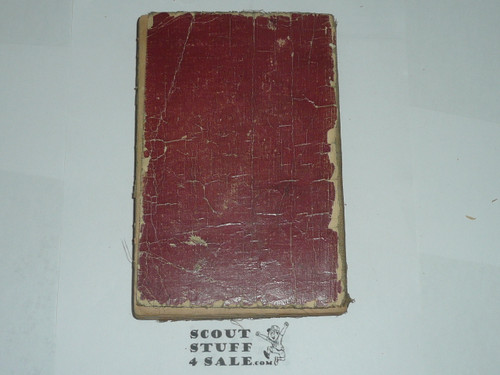 1916 Boy Scout Handbook, Second Edition,unknown printing due to no printing page, considerable wear