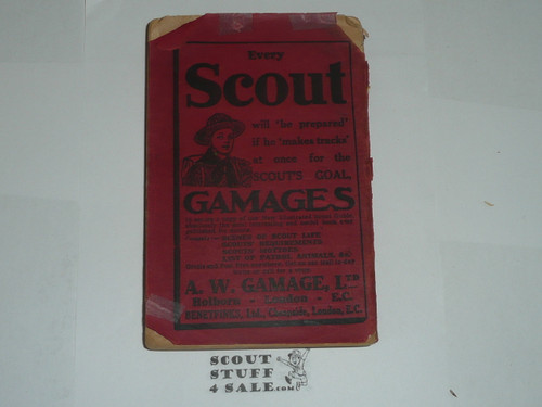 1914 Scouting for Boys, By Lord Baden-Powell, some wear