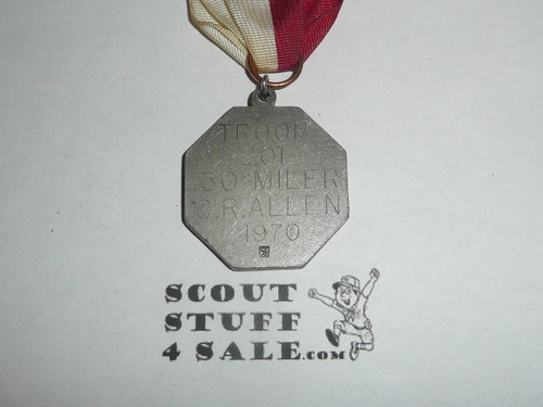 1970 Silver Generic Boy Scout Contest Medal, Engraved with Stange Hallmark