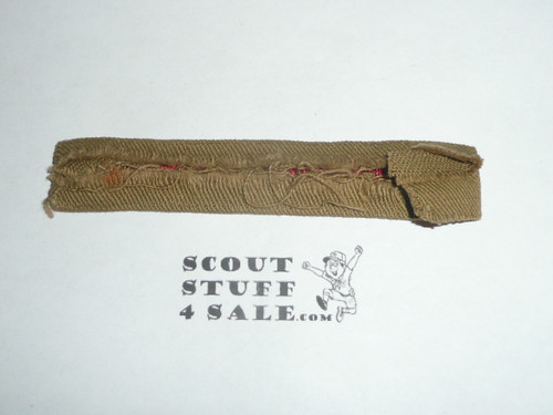 Program Strip - Boy Scouts of America, 1930's, sewn, lots of material