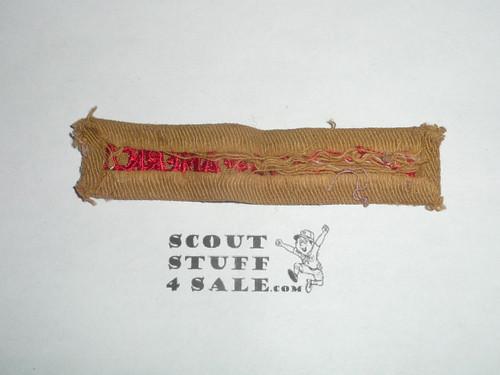 Program Strip - Boy Scouts of America, 1920s, used