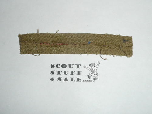 Program Strip - Boy Scouts of America, 1940's, fine twill, lite use