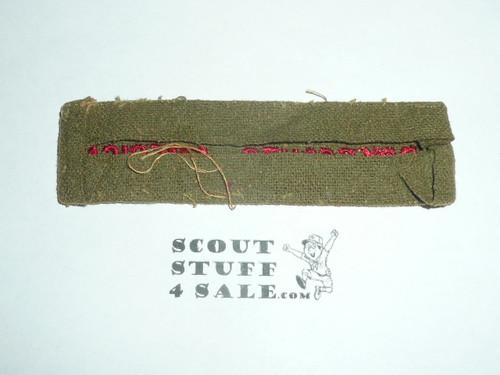 Program Strip - Boy Scouts of America, 1930's, serge wool, lite use, lots of material