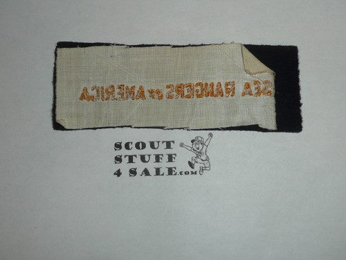 Program Strip - Sea Rangers of America, Navy Felt, unused, part of Boy Rangers of America