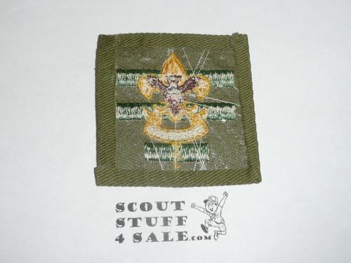 Senior Patrol Leader Patch - 1946 - 1954 - Tall Crown Khaki Cloth , near mint(S5)