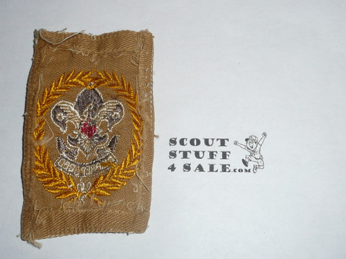 District Commissioner / Deputy Scout Commissioner Patch (DSC1) 1920's, RARE, used