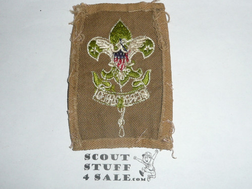 Scoutmaster Patch (SM2), 1930's, used but lots of material