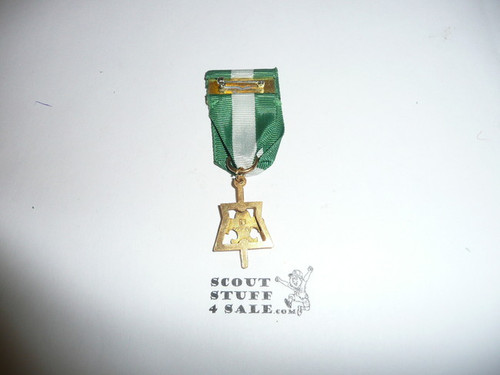 Scouter's Key Award Medal (Tenderfoot Design), ribbon shows a little wear