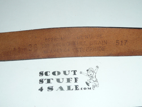 "Official Boy Scout Leather Belt, 36"" waist, unused"