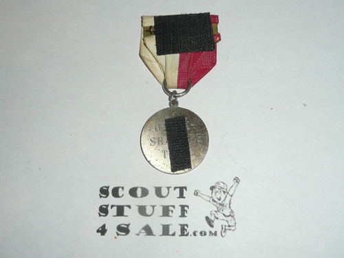 Quality casting of OBSCURE Boy Scout Contest Medal, velcro on the back