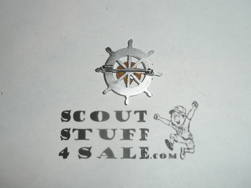 Girl Scout Mariner Pin, safety pin back, RARE