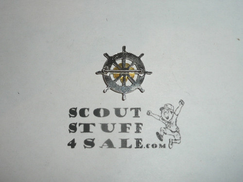 Girl Scout Mariner Pin, spin lock clasp, RARE