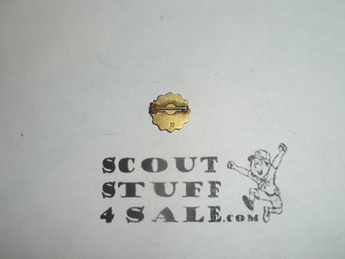 Girl Scout Trefoil on starburst background