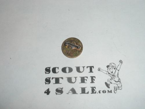 Girl Scout Trefoil on Green Enamel round background Pin