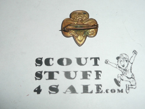 Stamped Girl Scout Universal Logo Pin, bent wire clasp