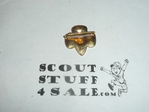 Stamped Girl Scout Universal Logo Pin, pressed wire clasp