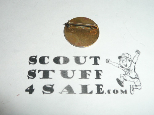 Girl Scout World Pin, bent wire clasp
