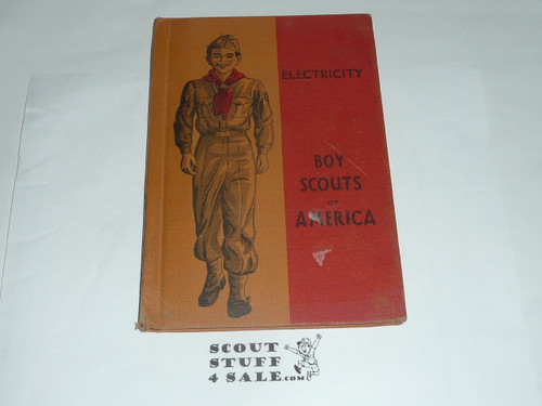 Electricity Library Bound Merit Badge Pamphlet, Type 5, Red/Wht Cover, 1-51 Printing