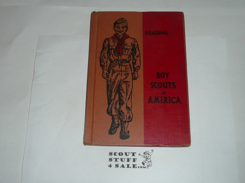 Reading Library Bound Merit Badge Pamphlet, Type 5, Red/Wht Cover, 11-51 Printing
