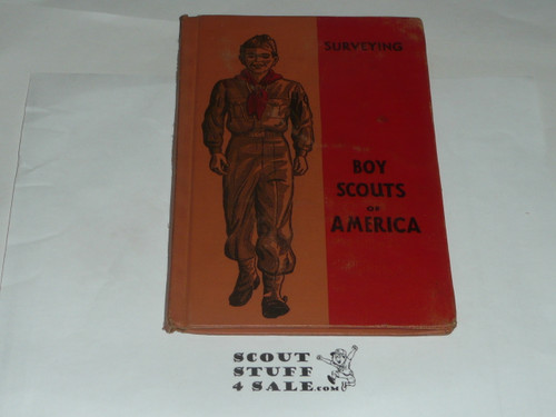 Surveying Library Bound Merit Badge Pamphlet, Type 5, Red/Wht Cover, 6-50 Printing