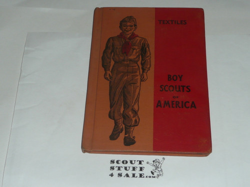 Textiles Library Bound Merit Badge Pamphlet, Type 5, Red/Wht Cover, 4-50 Printing