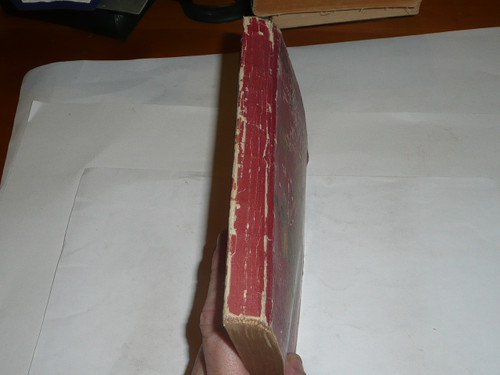 1917 Boy Scout Handbook, Second Edition, Sixteenth Printing, dark red cover, lite spine and cover wear
