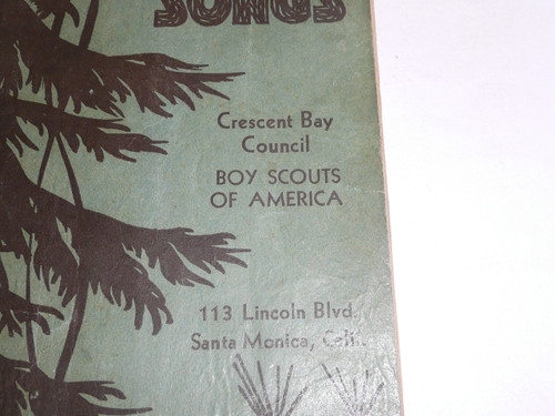 1930's Boy Scout Songbook, Camp Songs, Crescent Bay Council