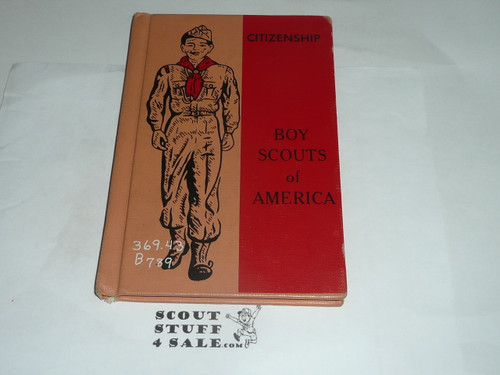 Citizenship Library Bound Merit Badge Pamphlet, Type 7, Full Picture, 11-67 Printing