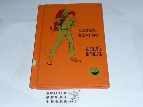 Motorboating Library Bound Merit Badge Pamphlet, Type 7, Full Picture, 3-71 Printing