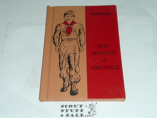 Rowing Library Bound Merit Badge Pamphlet, Type 7, Full Picture, 2-69 Printing