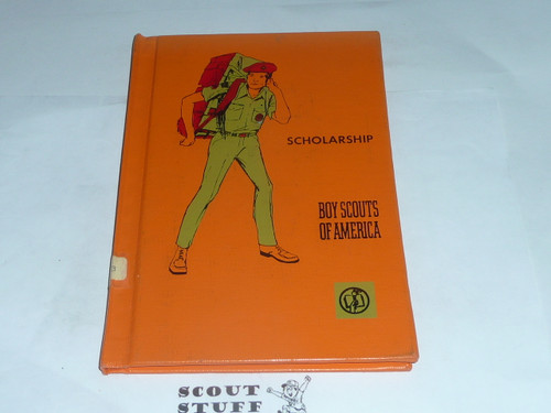 Scholarship Library Bound Merit Badge Pamphlet, Type 7, Full Picture, 3-72 Printing