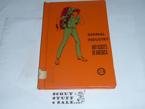 Animal Industry Library Bound Merit Badge Pamphlet, Type 8, Green Band Cover, 6-74 Printing